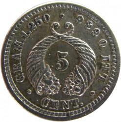 Monedă > 5centavo, 1902 - Columbia  (Silver) - reverse