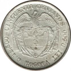 Monedă > 50centavo, 1888-1908 - Columbia  - reverse