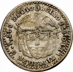 Monēta > ½decimo, 1870-1875 - Kolumbija  (LEI 0.835) - reverse