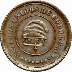 Monēta > 2½sentavo, 1885 - Kolumbija  - obverse