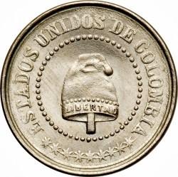 Monēta > 2½sentavo, 1881 - Kolumbija  (Diameter 14mm) - obverse