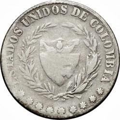 Coin > 2decimos, 1865 - Colombia  - obverse