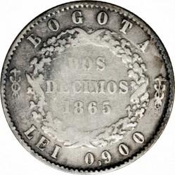 Coin > 2decimos, 1865 - Colombia  - reverse