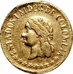 Moneda > 1peso, 1863-1864 - Colòmbia  - obverse