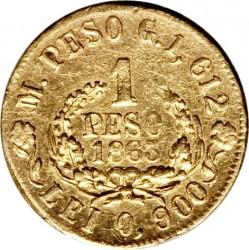 Moneda > 1peso, 1863-1864 - Colòmbia  - reverse