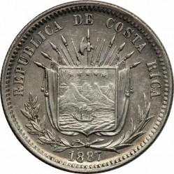 Munt > 25centavos, 1886-1887 - Costa Rica  - obverse