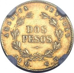 Moeda > 2pesos, 1876 - Costa Rica  - reverse