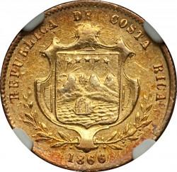 Moeda > 2pesos, 1866-1868 - Costa Rica  - obverse