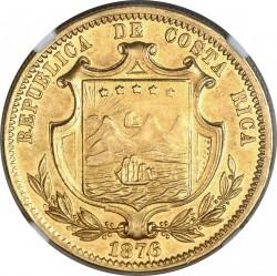 Munt > 10pesos, 1876 - Costa Rica  - obverse