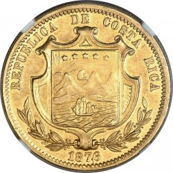 Moeda > 10pesos, 1876 - Costa Rica  - obverse
