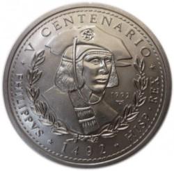 Moneda > 1peso, 1992 - Cuba  (500th Anniversary - Discoveryof America. Philip I) - obverse
