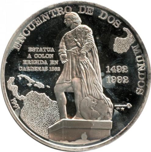 10 Pesos 1991 Encounter Of The Two Worlds Cuba Munt Waarde