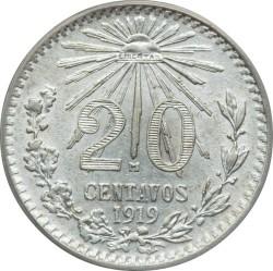 Moneta > 20centavos, 1919 - Messico  - reverse