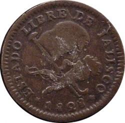 Νόμισμα > ⅛Ρεάλ, 1828-1834 - Μεξικό  - obverse