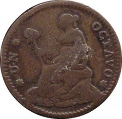 Νόμισμα > ⅛Ρεάλ, 1828-1834 - Μεξικό  - reverse