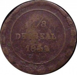 Moneda > ⅛ral, 1842 - Mèxic  (Nominal 1/8 en el revers) - reverse