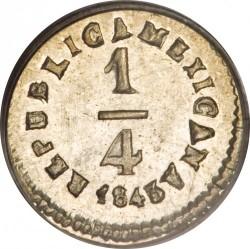 Moneda > ¼real, 1842-1863 - Mèxic  - reverse
