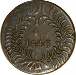 Moneda > ¼real, 1846 - México  (Native American on the obverse) - reverse