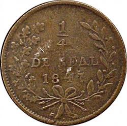 Moneda > ¼real, 1847-1866 - México  - reverse