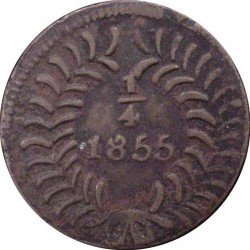 Moneda > ¼real, 1855-1856 - México  - reverse