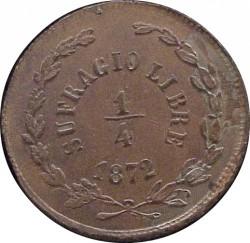 Νόμισμα > ¼Ρεάλ, 1872 - Μεξικό  - reverse