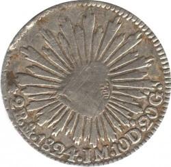 Moneda > 2reales, 1824 - Mèxic  - reverse