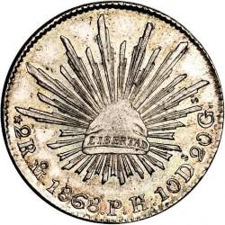 Moneda > 2reales, 1825-1872 - México  - reverse
