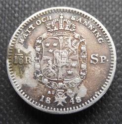 Mynt > 1/16riksdalerspecie, 1845-1855 - Sverige  - reverse