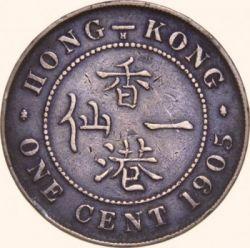 Coin > 1cent, 1902-1905 - Hong Kong  - reverse