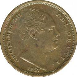 Moneda > ½farthing, 1837 - Reino Unido  - obverse