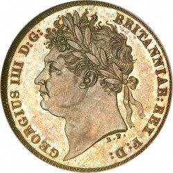 Монета > 6пенсів, 1821 - Велика Британія  - obverse
