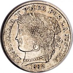 Кованица > ½реала, 1882 - Перу  - obverse