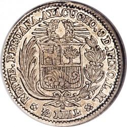 Moeda > ½real, 1882 - Peru  - reverse