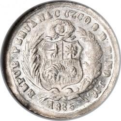 Pièce > ½dinero, 1885 - Pérou  - obverse
