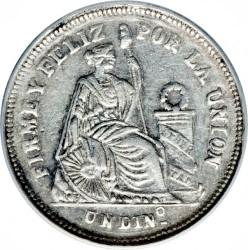 Pièce > 1dinero, 1886 - Pérou  - reverse