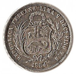 Moneda > ½sol, 1864-1865 - Perú  - obverse