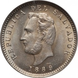 Монета > 3сентавос, 1889-1913 - Ел Салвадор  - obverse