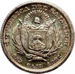 Moeda > 5centavos, 1892-1893 - El Salvador  - obverse