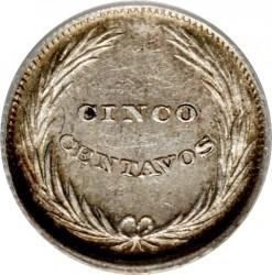 Moeda > 5centavos, 1892-1893 - El Salvador  - reverse