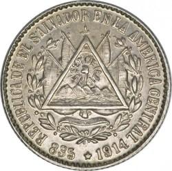 Moeda > 5centavos, 1914 - El Salvador  - obverse