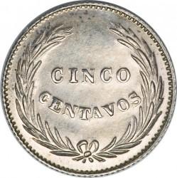 Moeda > 5centavos, 1914 - El Salvador  - reverse