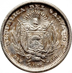 Munt > 10centavos, 1892 - El Salvador  - obverse