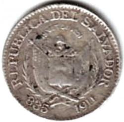 Moeda > 10centavos, 1911 - El Salvador  - obverse