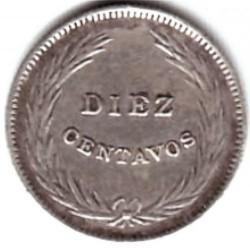 Moeda > 10centavos, 1911 - El Salvador  - reverse
