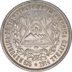 Moeda > 25centavos, 1914 - El Salvador  - obverse