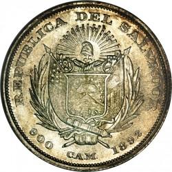 Munt > 50centavos, 1892 - El Salvador  (Flag on reverse) - obverse