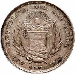 Moeda > 50centavos, 1892-1894 - El Salvador  - obverse