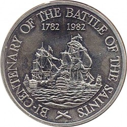 Munt > 20 dollars, 1982 - Saint Kitts en Nevis  (200th Anniversary - Battle of the Saints) - obverse