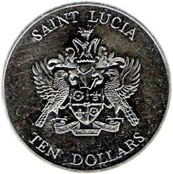 Монета > 10долларов, 1982 - Сент-Люсия  (200 лет сражению у островов Всех Святых) - obverse