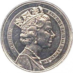 Coin > 10 dollars, 1985 - Saint Lucia  (Royal Visit of Queen Elizabeth II) - obverse